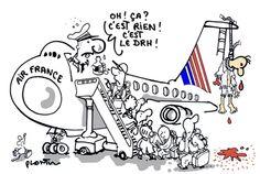 Un métier d'avenir: DRH à AIR FRANCE. Le dessin du Monde de ce mardi 6 octobre.