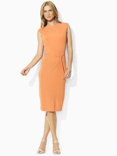 Jersey Boatneck Dress - Lauren Petite Sale - RalphLauren.com