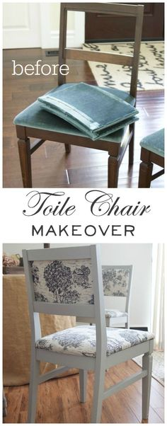 Toile Chair Makeover + Giveaway   So Much Better With Age