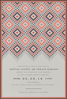 Boho Tapestry Wedding Invitation