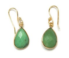 Ashiana  Chrysoprase drop earrings