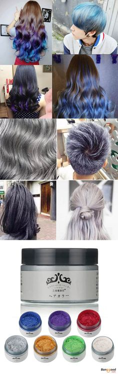 US$11.99+ Free shipping. Easy to use and clean, no residue and not greasy. Medium setting, natural matte, natural odor clear. Would not hurt hair, as long as the daub on the hair, color appear immediately.  #shops #makeup #hairdye #haircolor #haircolour #hairstyle #manicpanic #hairsalon #haircut #hairhighlights #haircolorchanger
