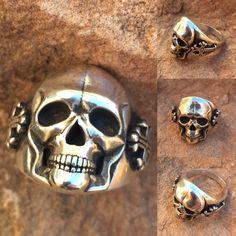 R56 Med 25mm Ring Sterling Silber Totenkopf von SantaFeSilverworks