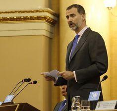 Su Majestad el Rey, durante su intervención. Palacio del Senado. Madrid, 05.05.2015