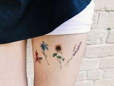 Flower Temporary Tattoos Set of 8 flower tattoos lavender rose peony lily sunflower pink blue redyellow handmade gift Tattoos Skull, Rose Tattoos, Tatoos, Little Tattoos, Small Tattoos, Small Lily Tattoo, Henne Tattoo, Tattoo Designs, Tattoo Ideas