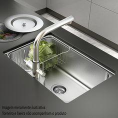 Deixe a organização da #cozinha ainda mais tranquila com esta #cuba incrível! #Design #decoração #design #madeiramadeira