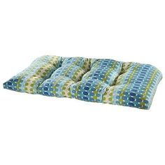 Tetris Ocean Outdoor Settee Cushion (Blue - Rectangle - Polyester), Outdoor Cushion