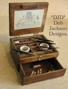 Dollhouse Miniatures : Deb Jackson artists' box  Share, Repin, Comment - Thanks!