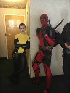 My friends cosplaying as Deadpool and Negasonic Teenage Warhead