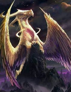 Beautiful feathered dragon