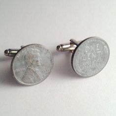 Men's Historical 1943 Steel Lincoln Wheat Penny Cuff by Lynx2Cuffs, $27.99