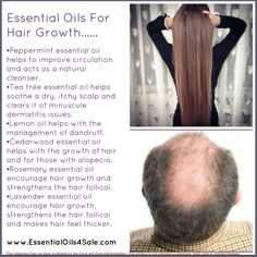 Essential oils for hair growth! Just in case my hair does what my aunt's did...