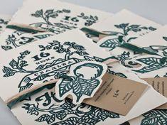 Rustic Hand Illustrated Linocut Wedding Invitations | Natalya + Ilyas Nature Inspired Linocut Wedding Invitations - Wow