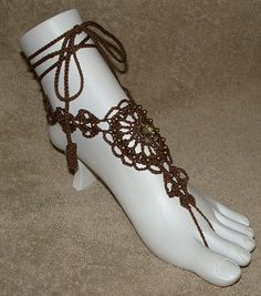Sunflower Barefoot Sandals or Ring Slave by gilmoreproducts33, $15.00
