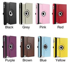 Insten 360-degree Swivel Leather Tablet Case Cover for Apple iPad 2/ 3/ 4 #545184