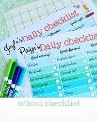 Wonderful way to help my children stay on task and teach necessary organizational skills.