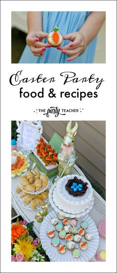 My Parties: Shabby Chic Easter Party Food Easter Party Games, Teacher Party, Childrens Meals, Party Invitations, Party Favors, Christian Easter, Party Crafts, Backyard Games, Treats