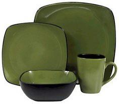 green leaf hearthstone | Corelle Hearthstone Spice Alley Square Bay Leaf Green