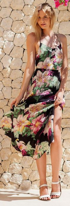 Floral Print Summer Dresses Long Ever Pretty A-line Floor-length Holiday Beach Bohemian Dresses Elegant Ladies Party Sundress Be Shrewd In Money Matters Weddings & Events