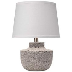"""Gravel 17"""" High Gray Paper Clay Accent Table Lamp"""