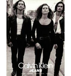 Carré Otis et Marcus Schenkenberg par Bruce Weber pour Calvin Klein Jeans 1991 / En savoir plus sur http://www.vogue.fr/vogue-hommes/mode/diaporama/les-campagnes-de-pub-darchives-de-calvin-klein-des-90s-et-des-80s/25668#VdwCV21lizsLD4XU.99