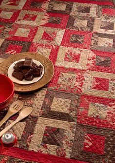 love brown, red and cream together--- verry pretty!.
