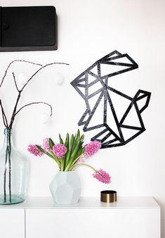 Origami-Hase Wandbild aus Maskingtape | SoLebIch.de