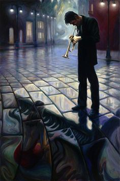 Mark Keller | American Figurative painter | Echoes of a melody | Tutt'Art@ | Pittura * Scultura * Poesia * Musica |