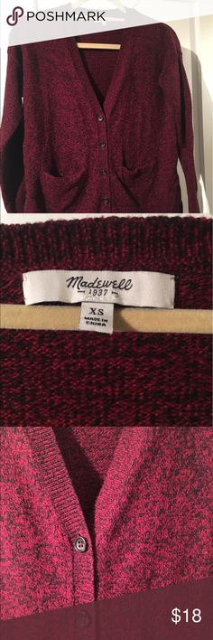 Madewell Landscape Burgundy Cardigan sz XS Super comfy Madewell Cardigan. Excellent condition.  True to size. Madewell Sweaters Cardigans