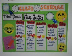 Class Displays, Class Schedule, Flipped Classroom, Social Science, Third Grade, Bulletin Board, Math, School, Teacher Organization