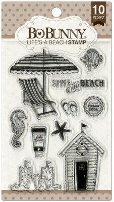 Bo-Bunny Essential Stamps - Life's A Beach