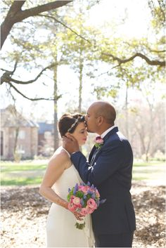 a romantic forehead kiss <3 - southern rustic wedding photography - #backyardwedding #springweddings #southernweddings - southern wedding photographers, raleigh nc