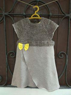 abito bimba in felpa e lana bio di BunnyBooshop su Etsy