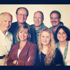 The 25th anniversary group! Who is your favorite character from Adventures in Odyssey?      Back row: Walker Edmiston (voice of Tom Riley), Chuck Bolte (voice of George Barclay), Paul Herlinger (voice of John Whittaker), Townsend Coleman (voice of Jason Whittaker) Front row: host Chris Anthony, Aria Curzon (voice of Mandy Straussberg), Katie Leigh (voice of Connie Kendall)