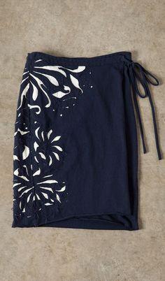 alabama chanin magdalena wrap skirt