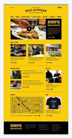 Soul kitchen website #design #web #website