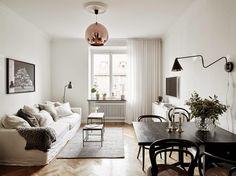 Apartamento funcional decorado con estilo nórdico