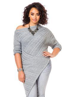 Asymmetrical Sweater - Ashley Stewart