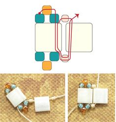Easy Tila Bead Ladder Stitch Bracelet Pattern - Beadwork-About.com #Seed #Bead #Tutorial