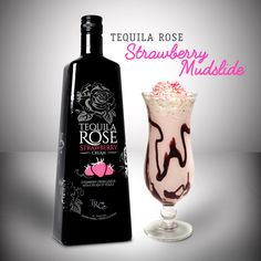 Tequila Rose Strawberry Mudslide  Collins Glass 0.75 oz. Tequila Rose 0.5 oz. 360 Madagascar Vanilla Flavored Vodka .25 oz. Coffee Liqueur 2 Scoops Vanilla Ice Cream.  Blend, Top with Whipped Cream and Garnish with Sprinkles.