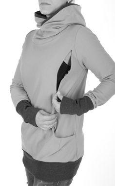Viva la Mama | Super comfortable maternity hoodie COLORADO (navy/blue). Hoodie for pregnancy, maternity, breastfeeding & everyday use. Your cozy piece in your maternity wardrobe :)