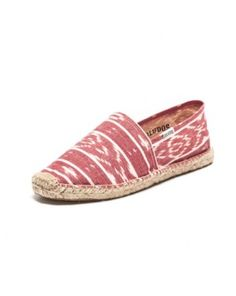 Ikat - Coral White Espadrilles for Women from Soludos - Soludos Espadrilles $42