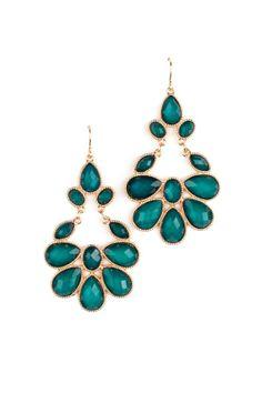 Chandelier earrings in my favorite color!