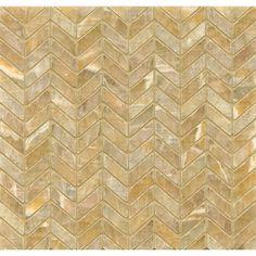 Found it at Wayfair - Onyx Chevron Marble Mosaic Tile in Sweet Honey
