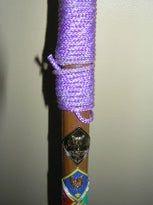 Rope Handgrip for Hiking Stick : 7 Steps - Instructables Cane Stick, Stick Art, Paracord Knots, Rope Knots, Paracord Wrap Handle, Hiking Staff, Wooden Walking Sticks, Creative Workshop, Walking Canes