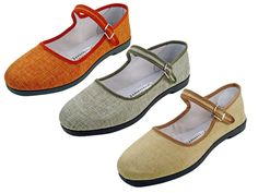 Flax Chinese slippers.