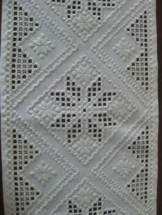 Hardanger Embroidery Resultado de imagen de white on white norwegian embroidery - Types Of Embroidery, Learn Embroidery, Hand Embroidery Stitches, Embroidery For Beginners, Vintage Embroidery, Embroidery Techniques, Embroidery Patterns, Cross Stitches, Loom Patterns