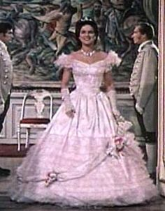 Hélène in Sissi (1, 1955) entrance at the engagement ball in Bad Ischl.