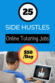 Get 25+ side hustle online tutoring jobs that will give you $50/day extra cash at home. This is a great way to make money online on the side for stay at home moms, teens, teachers, and students.  #sidehustleideas #sidehustlepassiveincome #sidehustleathome #sidehustleextracash #sidehustlewoman #sidehustleformoms #sidehustletips #sidehustlebusiness #sidehustleonline #sidehustleinspiration #sidehustle #sidehustles #makemoneyonline #money #cash #financialtips #workfromhome #job