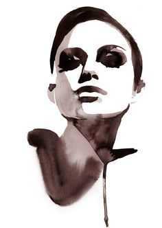 Watercolour : stina persson in illustration Watercolor Portraits, Portrait Paintings, Portrait Art, Art Paintings, Watercolor Paintings, Digital Portrait, Watercolours, Art Sketches, Art Drawings